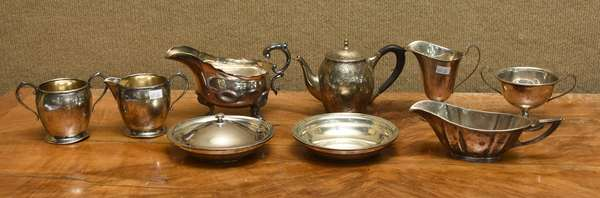 8 pc sterling lot of tableware, approx. 44 T.oz (667-26)