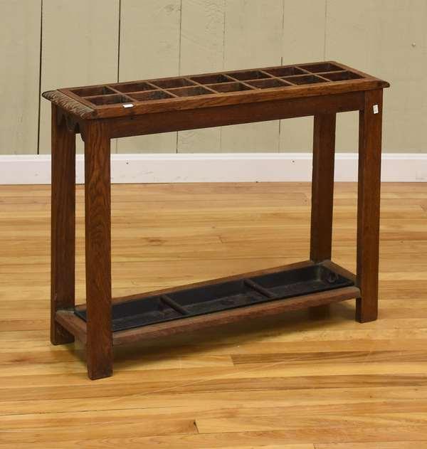 Small oak umbrella stand (516-10)
