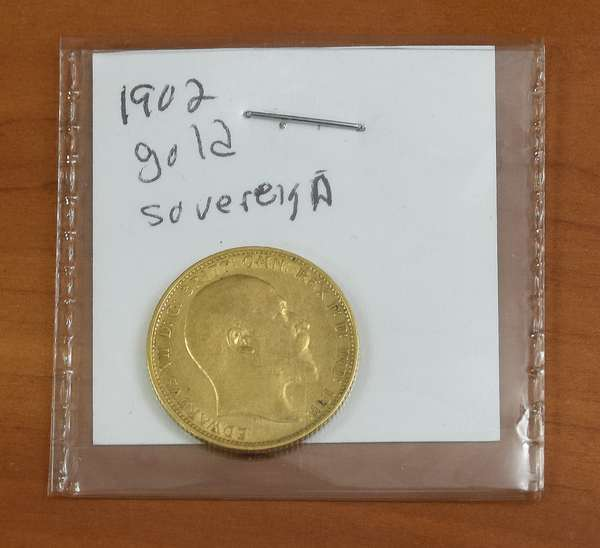Ref 2: 1902 gold sovereign (816-2)
