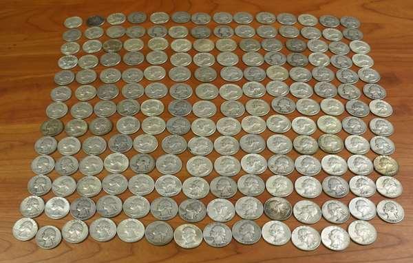 Ref 7: 45-25 face U.S. 90% silver quarters (816-7)