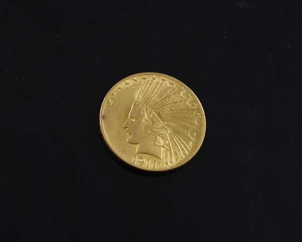 Ref 19: 1911 $10 gold coin (605-209)