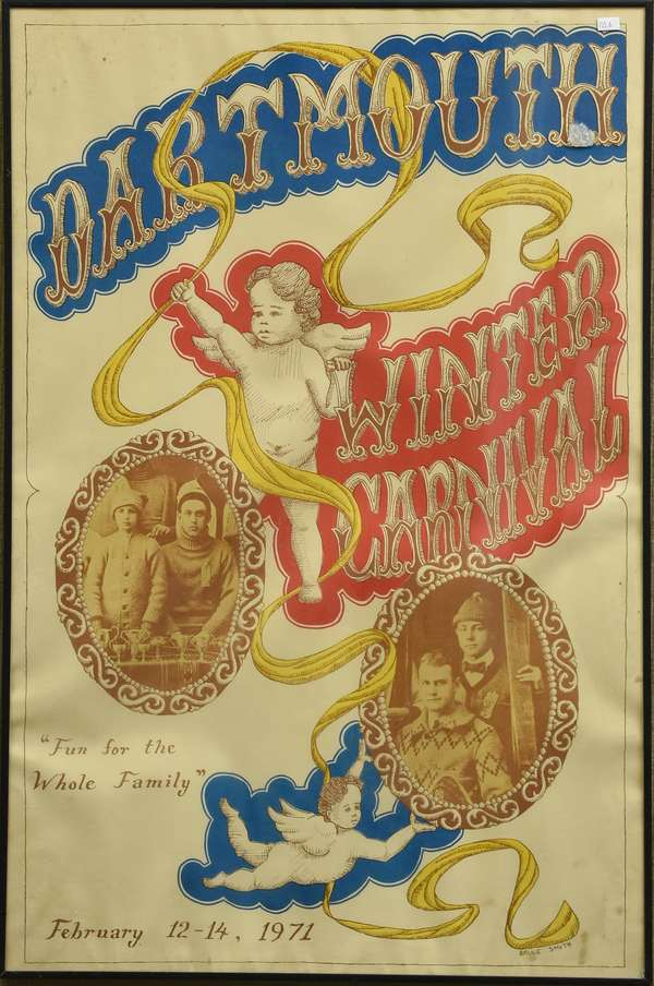 Dartmouth Winter Carnival Poster, Wild West, 1971 (735-6)