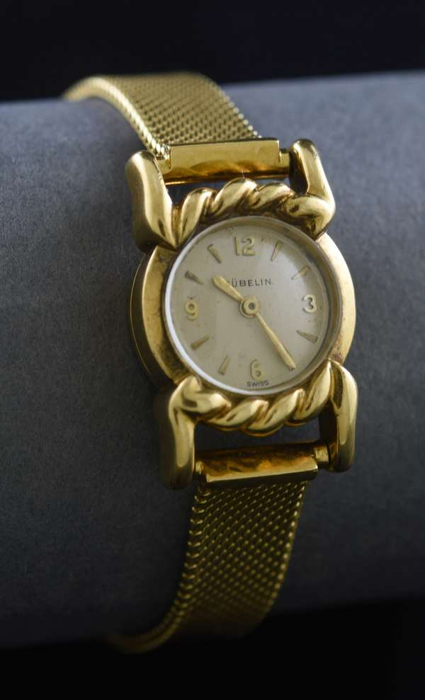 Ref 56: 18k yellow gold ladies bracelet watch by Gubelin, 30 grams (789-56)