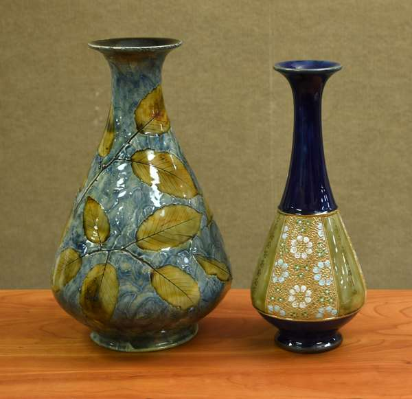 Two Royal Doulton vases (106-4)