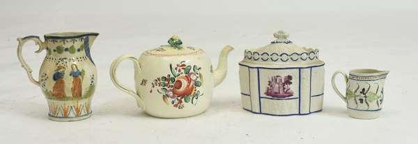 English porcelain lot: Kings Rose teapot 5