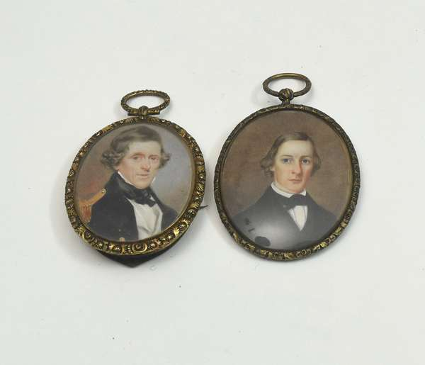 Two early 19th C. miniature portraits of noble gentlemen, 2