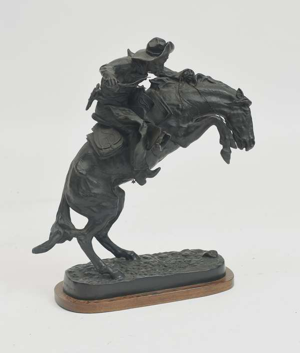 Western bronze after Frederick Remington,