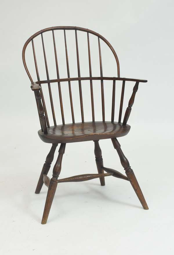 18th C. sack-back Windsor armchair, old color and good form
