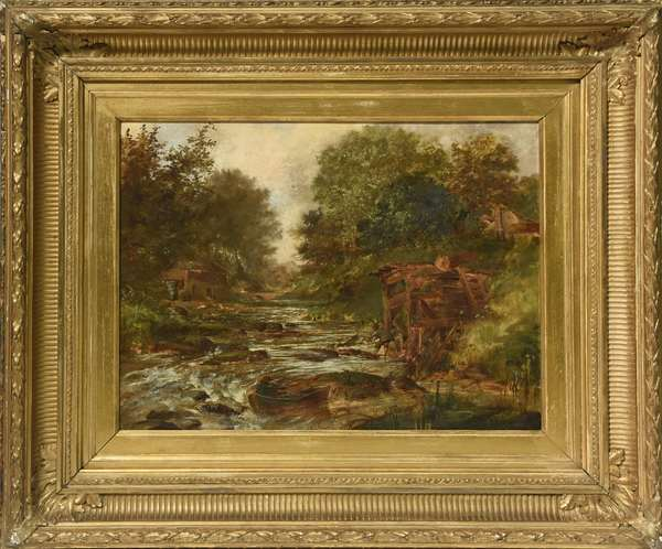 19th C. oil on canvas,