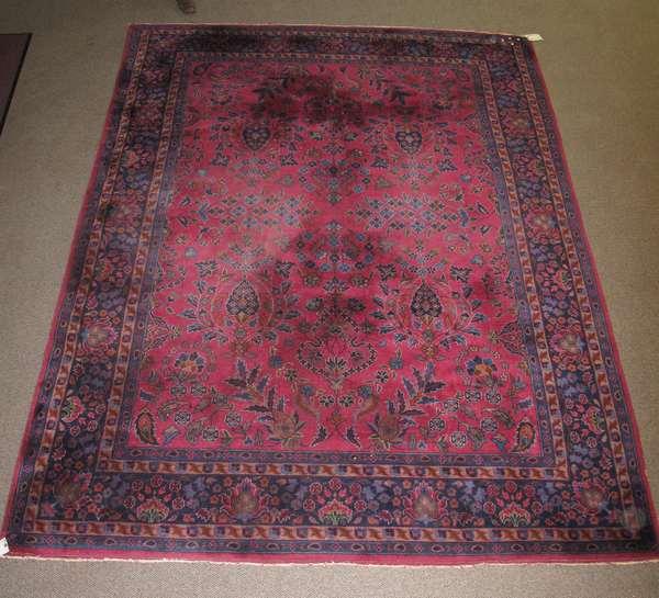 Room size multi-colored Oriental rug, 8'10