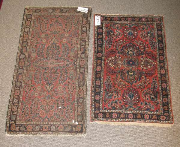 Two small Oriental rugs, 2'6
