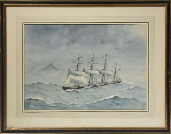 Maritime watercolor signed E. Tufnell,