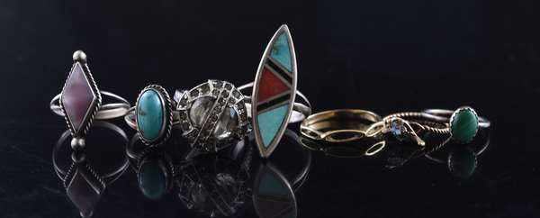 Ref 6 - Seven rings, some Native American (96-6)