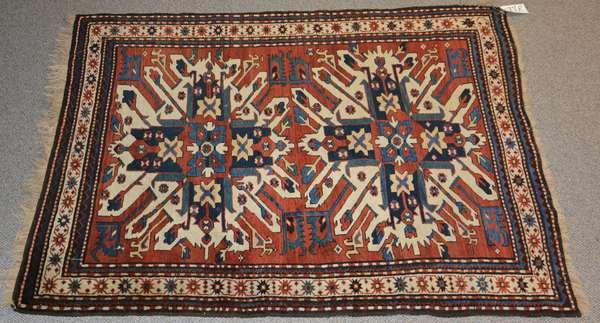 """Eagle Kazak Oriental rug, 4' x 6'2"""""""