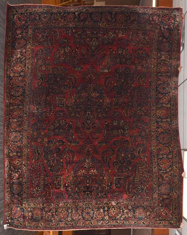 "Room size Sarouk Oriental rug, 9'2"" x 11'4"""