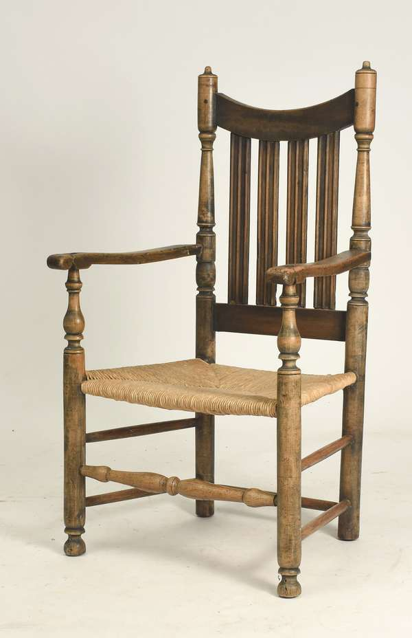 New York William & Mary banister back armchair ca. 1730