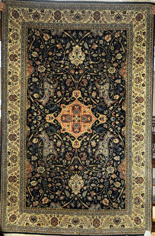 "Quality Persian rug, 4'7"" x 7'"
