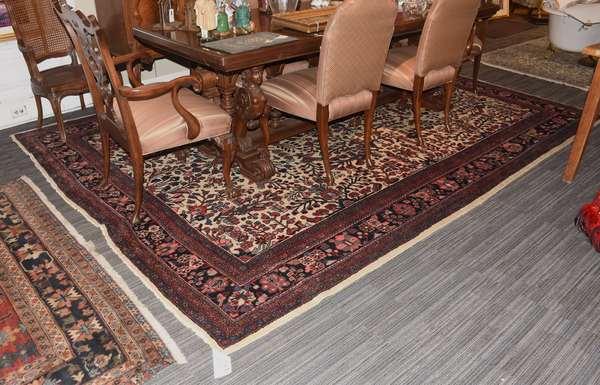 "Fine room size Oriental rug, Hamadan, multi colored floral field, 11'9"" x 8'8"""