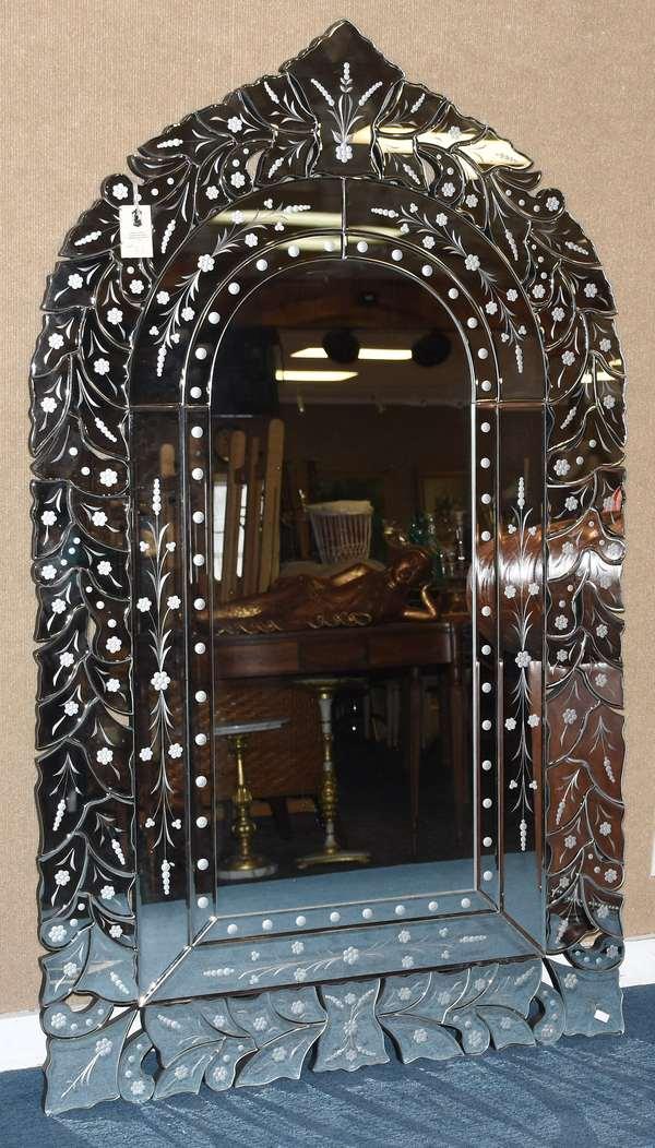 "Large Venetian style wall mirror, 56""H. x 33""W."