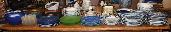 Selection of dinner plates and other china for the home