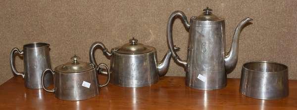 Five piece Sterling silver tea set, approx. 53.4 T. oz (44-375)