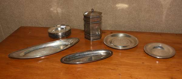 Lot of sterling tableware inc. Tiffany, 11 pieces, approx. 30 T. oz (44-377)