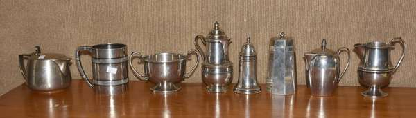 Eight piece sterling silver lot, approx. 46.4 T. oz (44-378)
