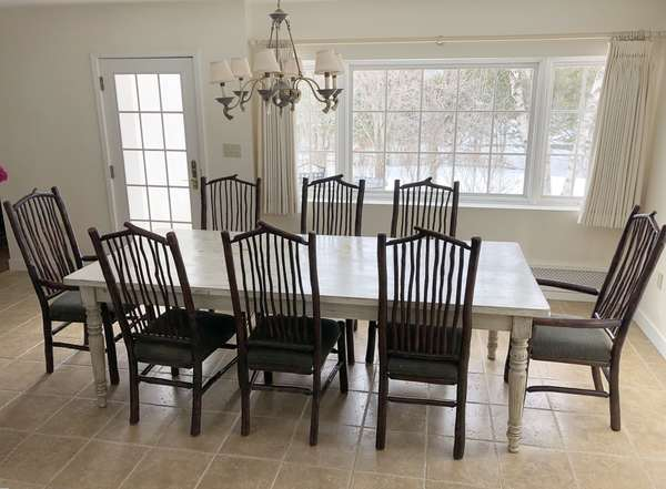 "Pine farm dining room table, 8'L. x 41""W. x 31""H. (6-4)"