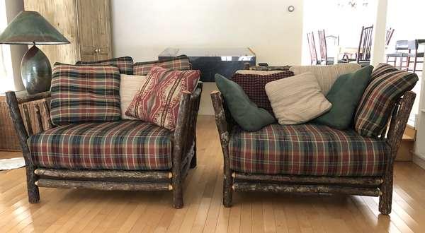 Pair of large Adirondack chairs (6-10)