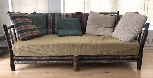 """Adirondack couch, 84""""W. x 42""""D. x 35""""H. (6-11)"""