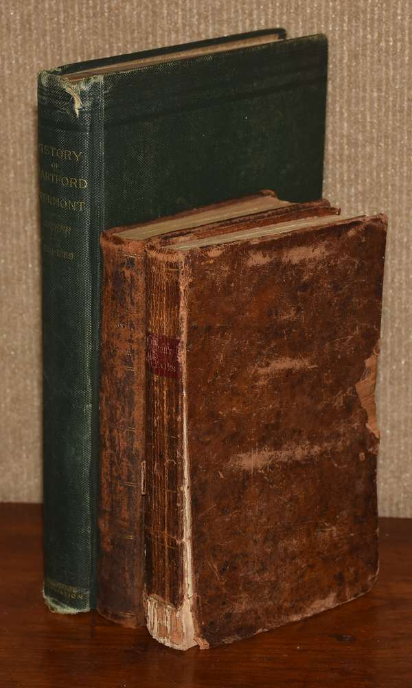 Lot of three books, including: History of Hartford, VT History of U.S. 1823 Gazeteer of VT, Zadoch Thompson, with rare plates (186-1)