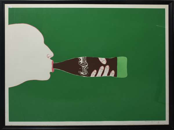 Paris Review colored litho on paper by Marisol Eccobar 1967, 31.5