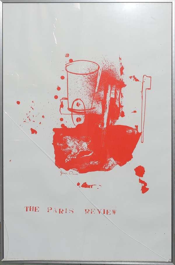 """Paris Review litho by Jim Dine, 38"""" x 25"""" (897-16)"""