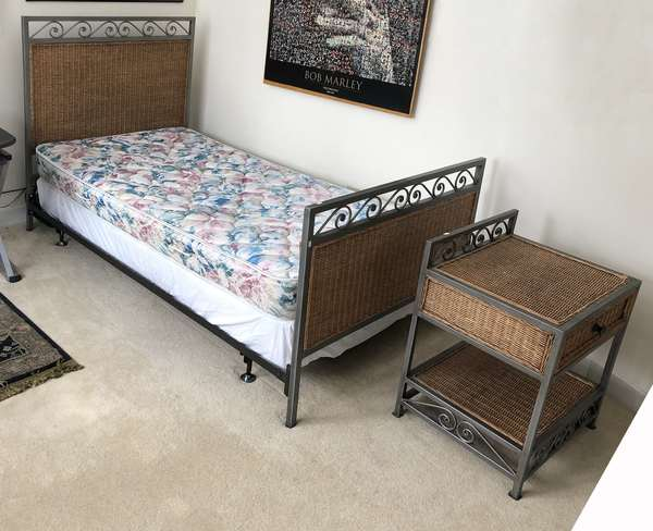 Twin bed with nightstand (6-17)