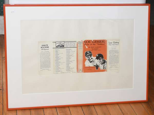 """Litho """"In Overtime Series"""" Lou Gehrig by R. B. Kitag screenprint on paper,16.5"""" x 24"""" (897-24)"""