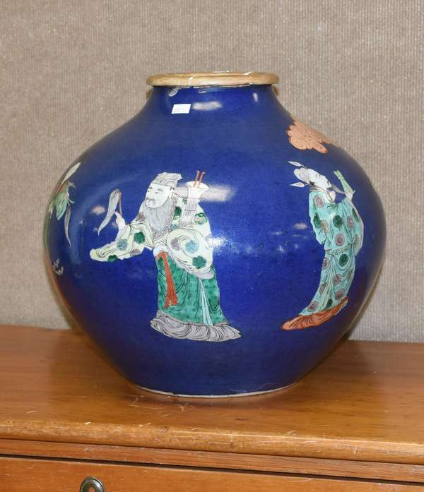 "Chinese Oriental vase, 14""H. (895-1)"