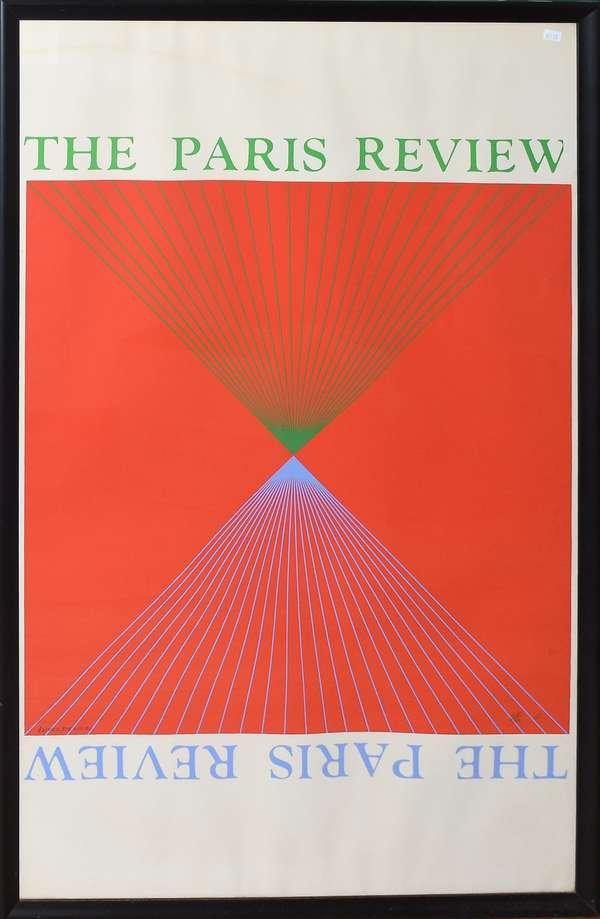 "The Paris Review by Richard Anuszkiewicz, 39.5"" x 25.5"" (897-25)"