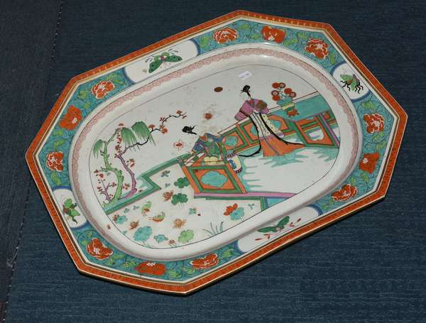 19th C. porcelain platter with Chinese decoration (461-148)