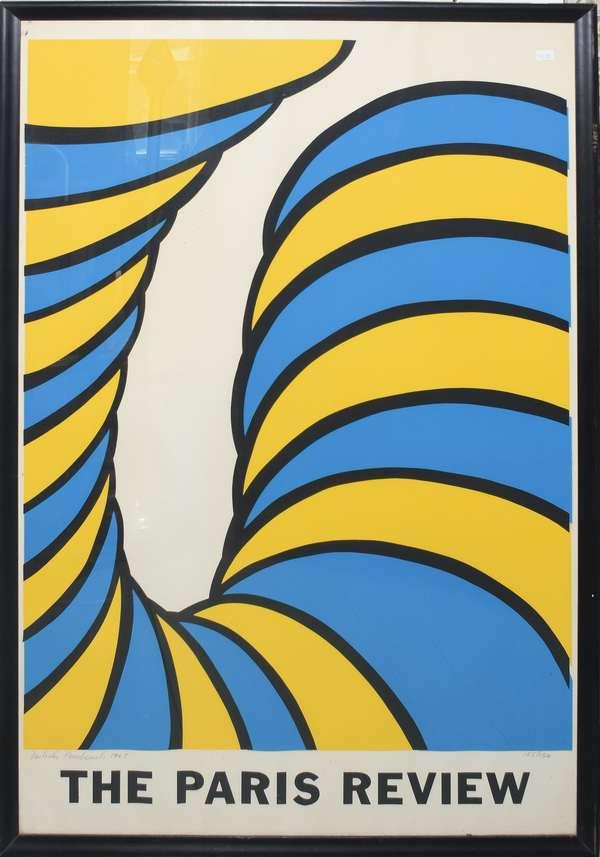 """Paris Review cover by Nicholas Krushenick, 39.5"""" x 25.5"""" (897-28)"""