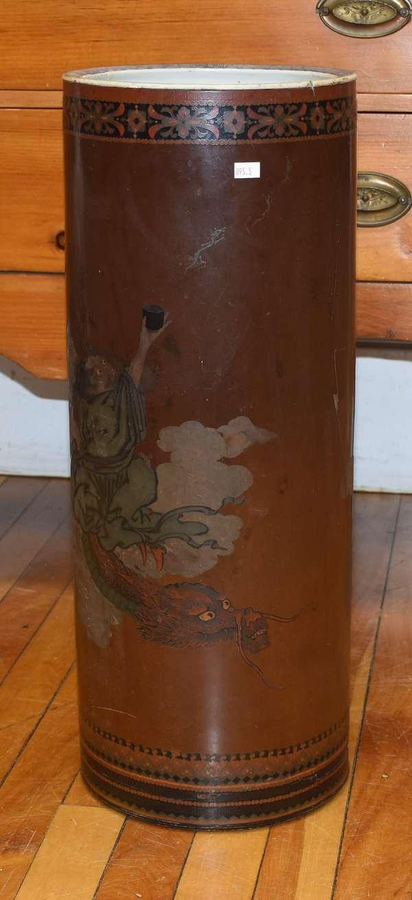"Japanese umbrella holder, 23""H. (895-5)"