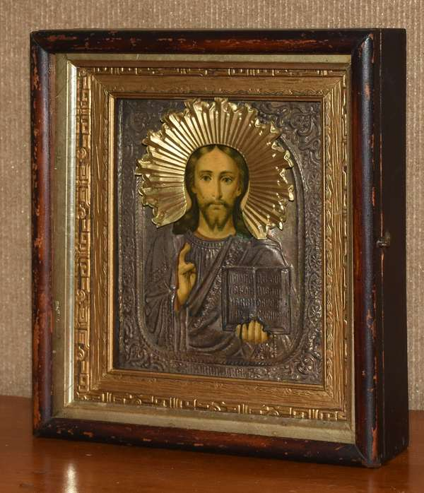 Religious icon in a shadow box (895-12)