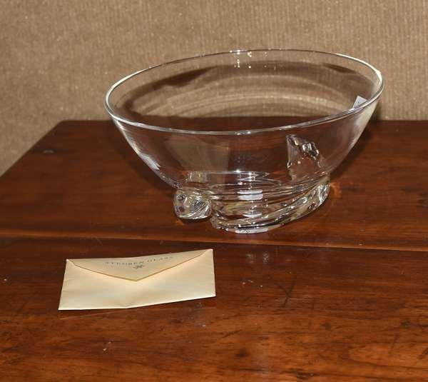 Signed Steuben spiral bowl (479-3)