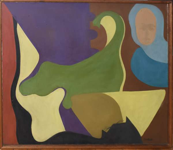 """Contemporary painting by Hornback, 28"""" x 33.5"""" (897-33)"""