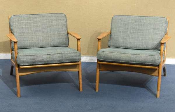 Pair of Danish Mid-century arm chairs (43-39)