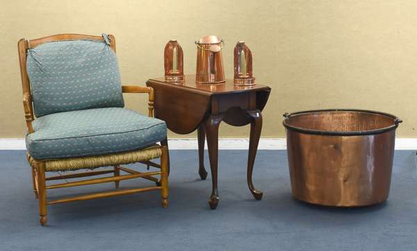 An eclectic selection of antiques will be offered, including copper, country accessories, fine furniture, and much more!
