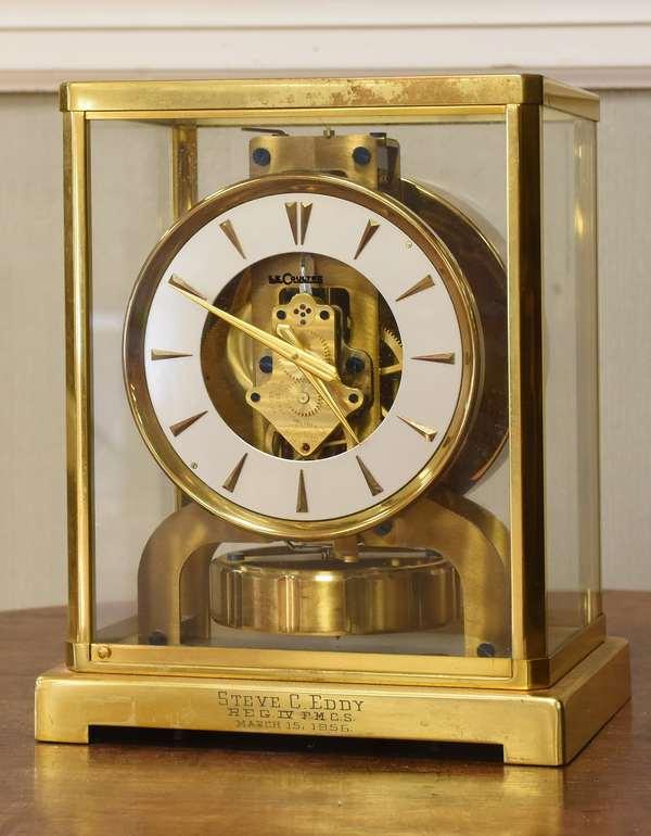 "LeCoultre shelf clock, 8.5""Hx 6.5""W (605-299)"