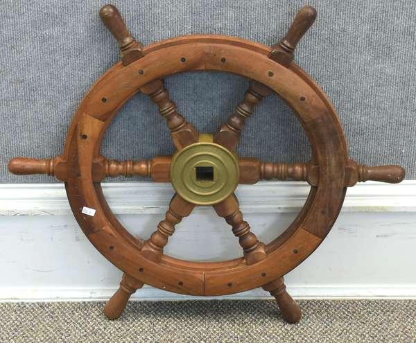 """Small size ships wheel, 24"""" dia. (134-3)"""