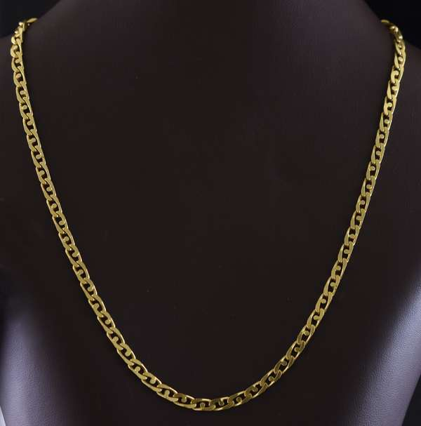 "Jewelry - 18 kt yellow gold 17"" anchor chain, 20.1 gr. (875-70)"