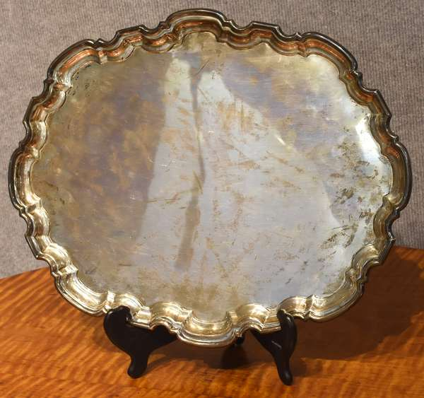 Oval English sterling tray, approx. 38 Toz (875-19)