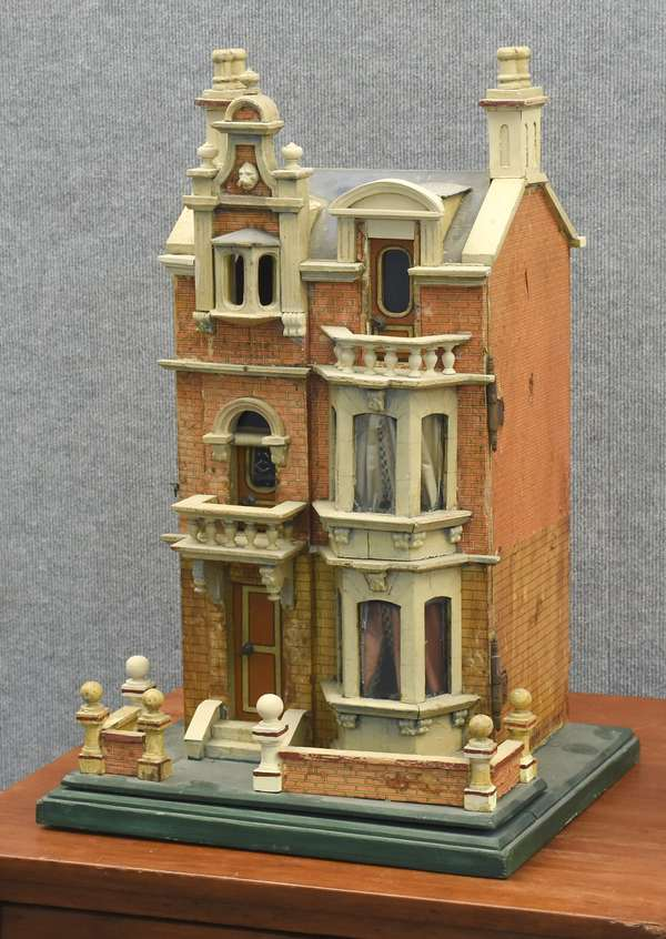 """An exceptional 19th C, doll house, 25""""H x 16""""W (885-6)"""